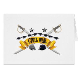 yellow civil war art card