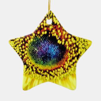 Yellow Closeup Ceramic Ornament