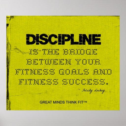 Yellow Cloth Black Thread Fitness Discipline Posters