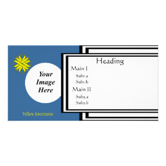 Yellow Clover Ribbon Template Customised Photo Card