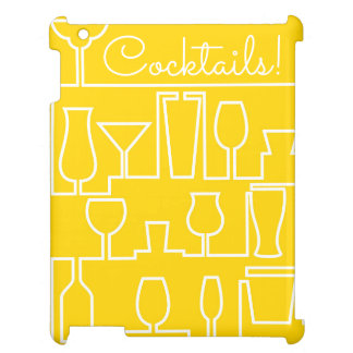 Yellow cocktail party cover for the iPad