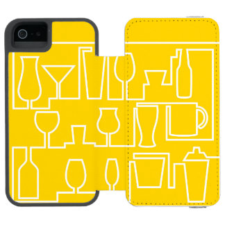 Yellow cocktail party incipio watson™ iPhone 5 wallet case