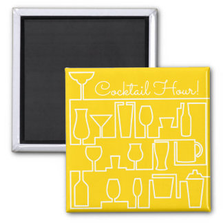 Yellow cocktail party magnet