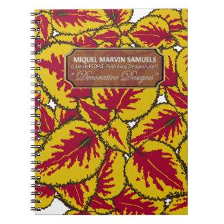 Yellow Coleus Decorative Modern Notebook