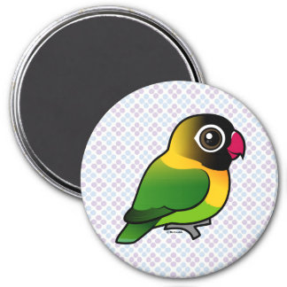 Yellow-collared Lovebird 7.5 Cm Round Magnet