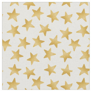 Yellow Color Gradient Stars Seamless Pattern Fabric