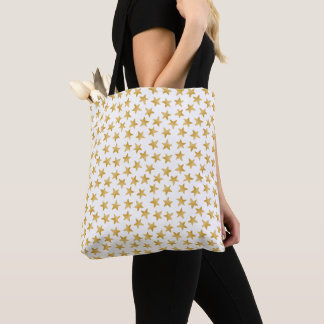 Yellow Color Gradient Stars Seamless Pattern Tote Bag