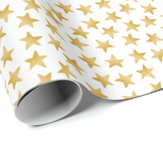 Yellow Color Gradient Stars Seamless Pattern Wrapping Paper