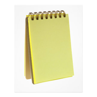 Yellow colored notepad 21.5 cm x 28 cm flyer