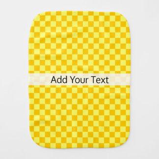 Yellow Combination  Checkerboard by ShirleyTaylor Burp Cloth