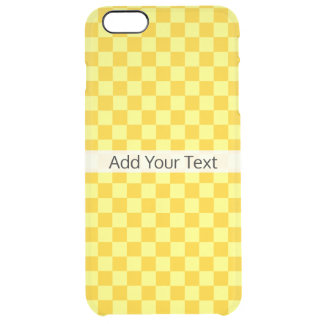 Yellow Combination Checkerboard by ShirleyTaylor Clear iPhone 6 Plus Case