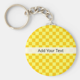 Yellow Combination  Checkerboard by ShirleyTaylor Key Ring
