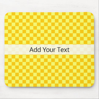 Yellow Combination  Checkerboard by ShirleyTaylor Mouse Pad
