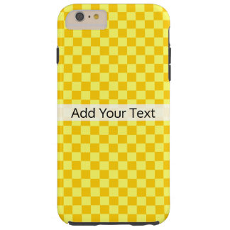 Yellow Combination Checkerboard by ShirleyTaylor Tough iPhone 6 Plus Case