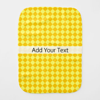 Yellow Combination Diamond Pattern by STaylor Burp Cloths
