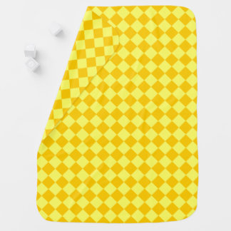 Yellow Combination Diamond Pattern by STaylor Receiving Blankets