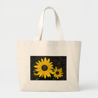 Yellow Cone Flowers Canvas Bags