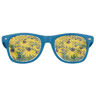 Yellow Coneflower retro glasses