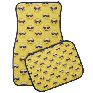 Yellow Cool Sunglasses Emoji Car Mat