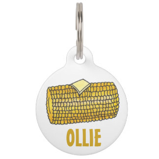 Yellow Corn on the Cob Butter Food Pet Dog Tag