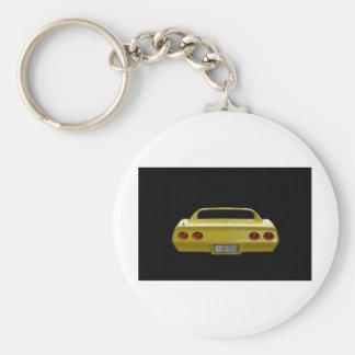 Yellow Corvette Key Ring
