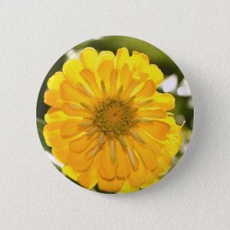 Yellow cosmo 6 cm round badge