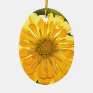 Yellow cosmo ceramic ornament