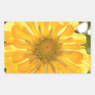 Yellow cosmo rectangular sticker