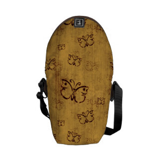 Yellow Country Butterfly Pattern Commuter Bag