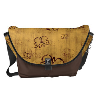 Yellow Country Butterfly Pattern Commuter Bags