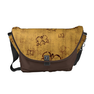 Yellow Country Butterfly Pattern Messenger Bags