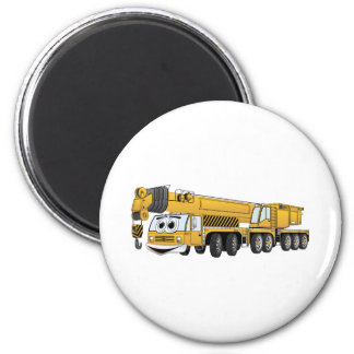 Yellow Crane Cartoon 6 Cm Round Magnet