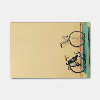 Yellow Cream Bike Basket Bicycle Two Wheel Post-it® Notes