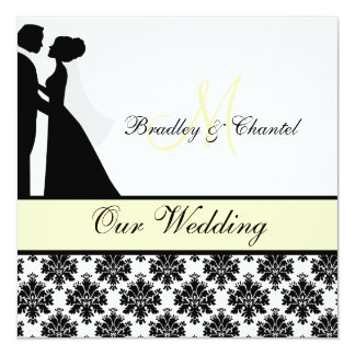 Yellow Cream Wedding Couple Wedding Invitation