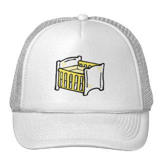 yellow crib cap