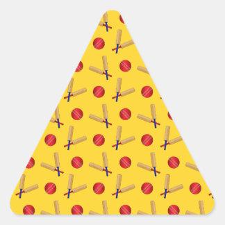 yellow cricket pattern sticker