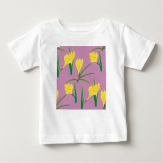 Yellow Crocus Flowers Baby T-Shirt