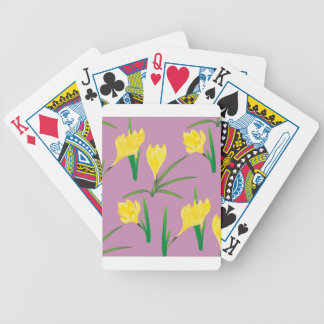 Yellow Crocus Flowers Bicycle Playing Cards