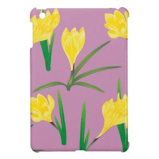 Yellow Crocus Flowers iPad Mini Cases