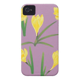 Yellow Crocus Flowers iPhone 4 Cover