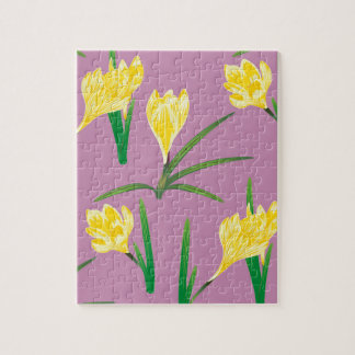 Yellow Crocus Flowers Jigsaw Puzzle