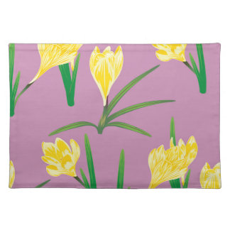 Yellow Crocus Flowers Placemat