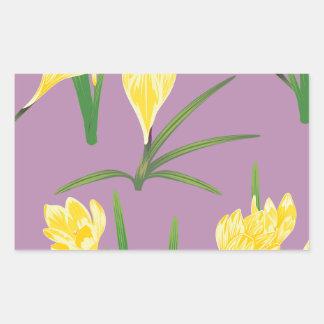 Yellow Crocus Flowers Rectangular Sticker