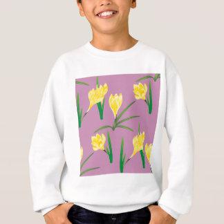 Yellow Crocus Flowers Sweatshirt