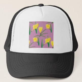 Yellow Crocus Flowers Trucker Hat