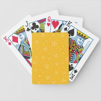 Yellow Crop Circles Bicycle Playing Cards
