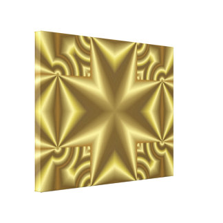 Yellow Cross Stretched Canvas Prints