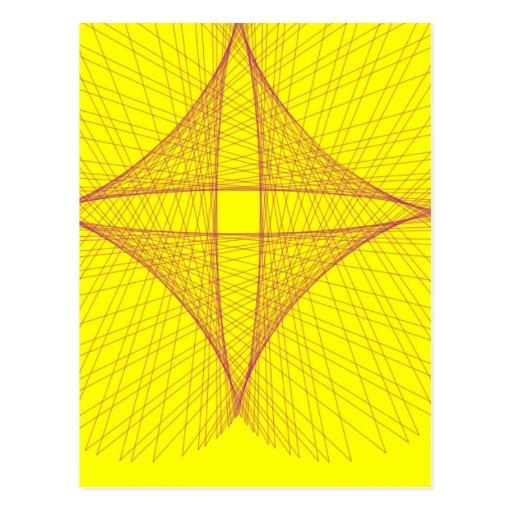 yellow cross post cards