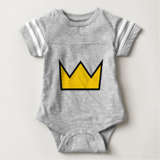 Yellow Crown Baby Bodysuit