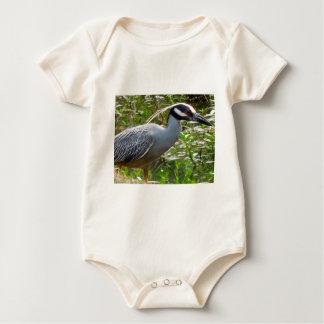 Yellow Crown Night Heron Baby Bodysuit